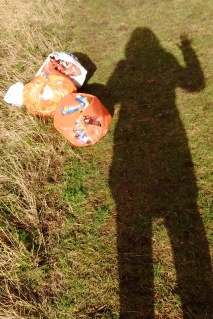 Litter-picking shadow